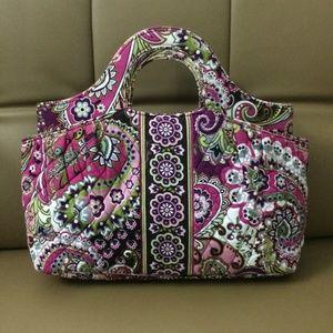 NWOT Vera Bradley Abby Tote Bag Very Berry Paisley